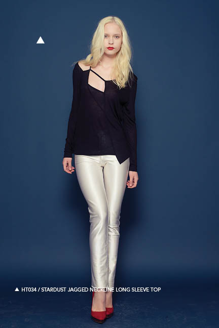 Holy Tee Fall 2011 Collection - HT034 / Stardust Jagged Neckline Long Sleeve Top