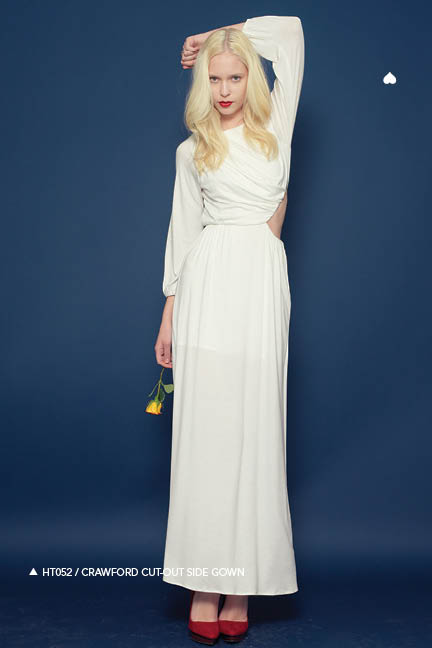 Holy Tee Fall 2011 Collection - HT052 / Crawford Cut-Out Side Gown