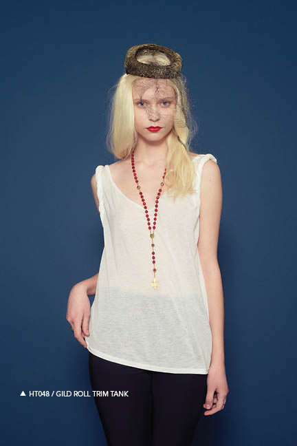 Holy Tee Fall 2011 Collection - HT048 / Gild Roll Trim Tank (front)