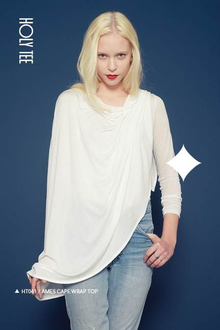 Holy Tee Fall 2011 Collection - HT041 / Ames Cape Wrap Top