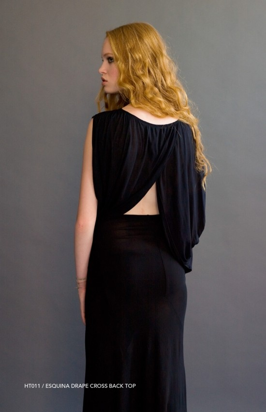 Holy Tee Spring 2011 Collection - HT011 / Esquina Drape Cross Back Top (back)