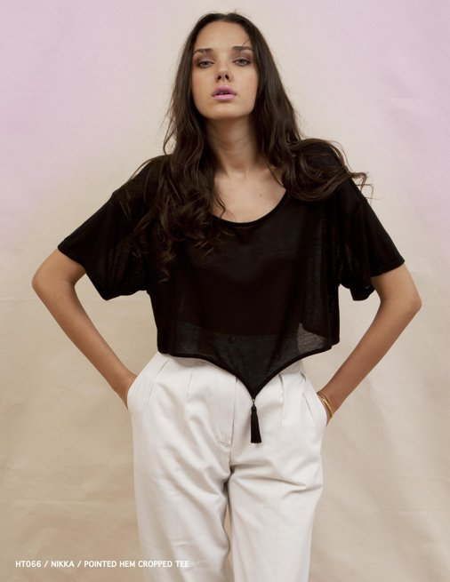 Holy Tee Spring 2012 Collection - HT066 / Nikka / Pointed Hem Cropped Tee