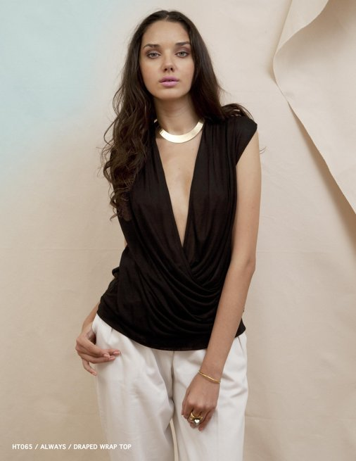 Holy Tee Spring 2012 Collection - HT065 / Always / Draped Wrap Top
