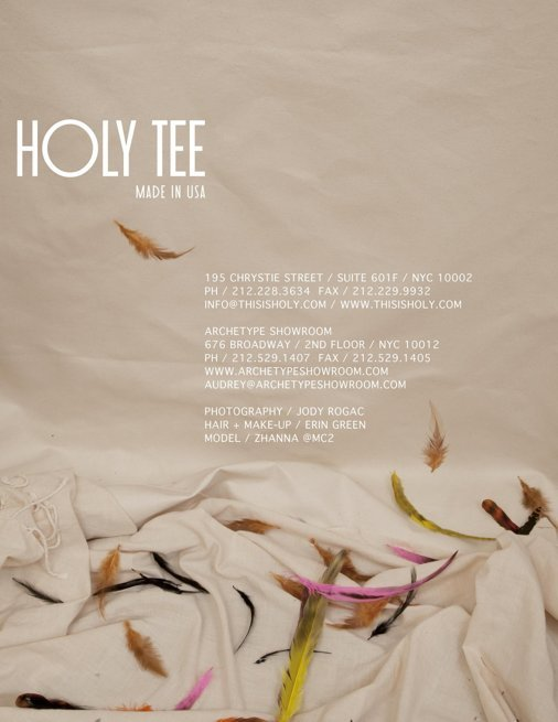 Holy Tee Spring 2012 Collection - Credits