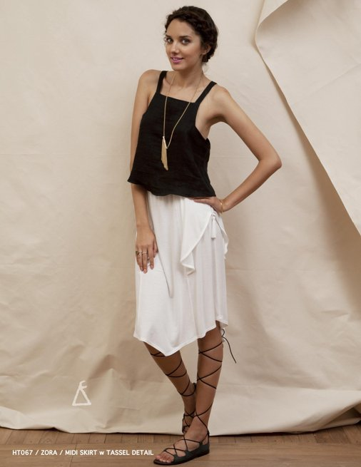 Holy Tee Spring 2012 Collection - HT067 / Zora / Midi Skirt w Tassel Detail