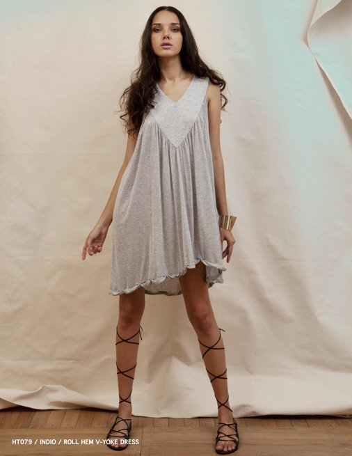 Holy Tee Spring 2012 Collection - HT079 / Indio / Roll Hem V-Yoke Dress